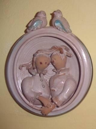 kerámia családii kép mátkapárral